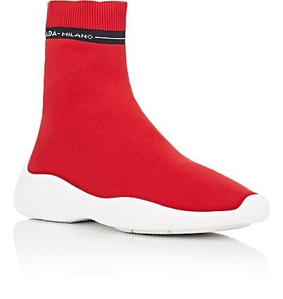 Prada Women's Logo Knit Sock Sneakers